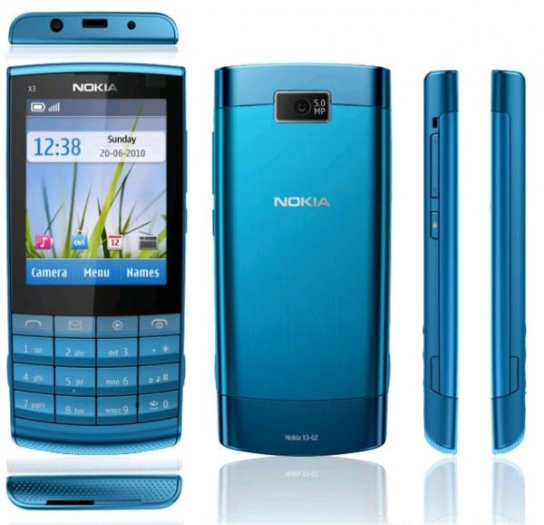 Nokia X 3-02 Touch and Type in the Practice Test