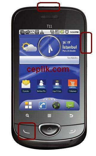 Turkcell T11 format atma