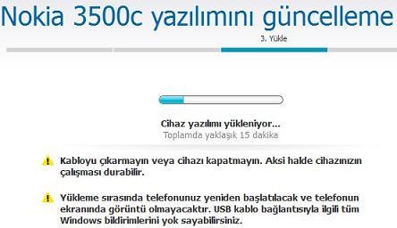 Nokia 3500c Yazılım güncelleme 5
