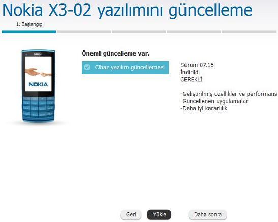 Nokia-X3-02 yazılım güncelleme 3