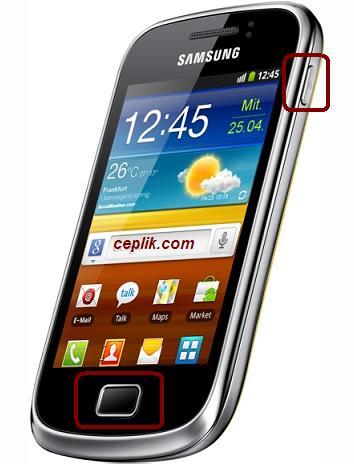 Samsung Galaxy Mini 2 S6500 Ekran Görüntüsü Alma