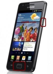 Samsung Galaxy s2 ekran görüntüsü alma
