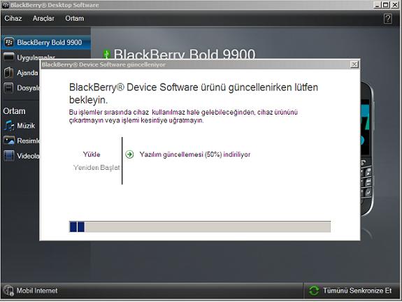 blackberry 9900 yazılım güncelleme 2
