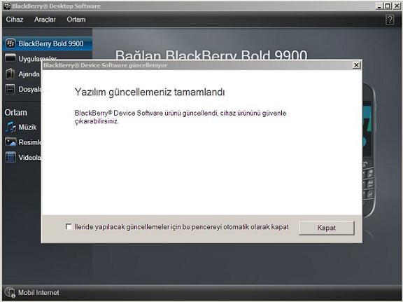 blackberry 9900 yazılım güncelleme 4