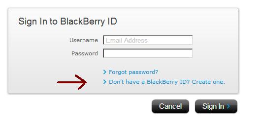 blackberry id alma