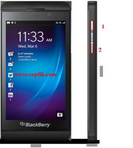 blackberry z10 ekran görüntüsü alma