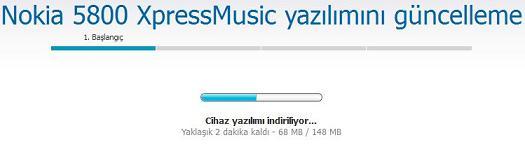 nokia 5800 XpressMusic yazılım güncelleme 4
