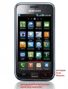 samsung galaxy s i9100 ekran görüntüsü kaydetmek