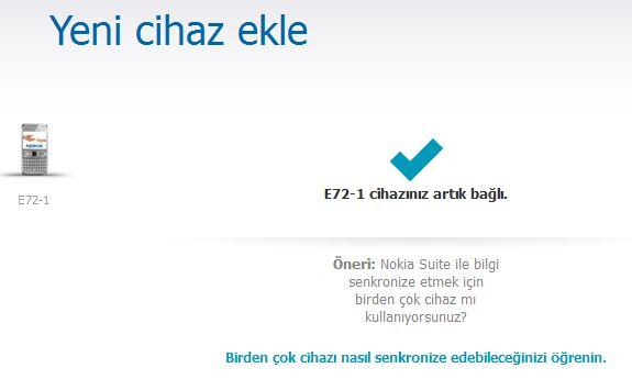NOKIA E72 Yazılım Güncelleme