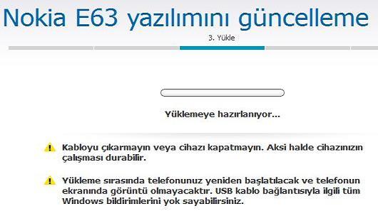 Nokia E63 Yazılım Güncelleme 6