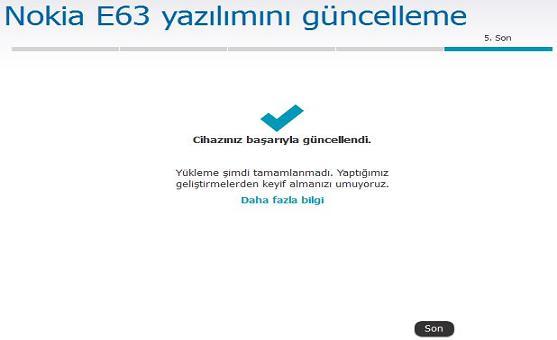 Nokia E63 Yazılım Güncelleme 7