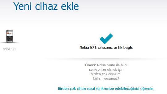 Nokia E71 yazılım güncelleme