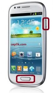 Samsung Galaxy S3 Mini i8190 Ekran Görüntüsü Alma