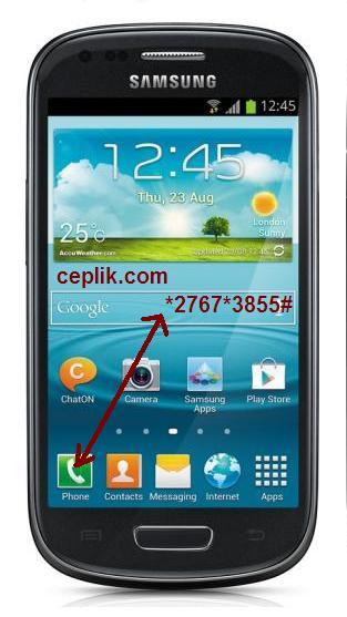 Samsung Galaxy S3 mini i8190 tuşla format atma