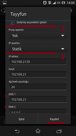 Sony Xperia Z DNS Değiştirme (2)