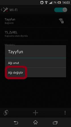 Sony Xperia Z DNS Değiştirme