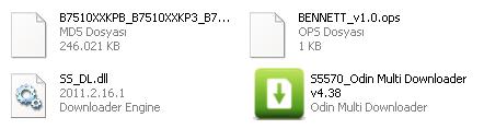 b7510 odin dosyaları
