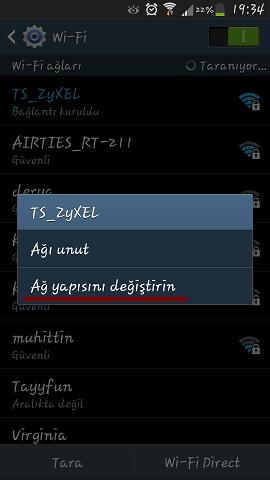 Galaxy S4 DNS Değiştirme 1