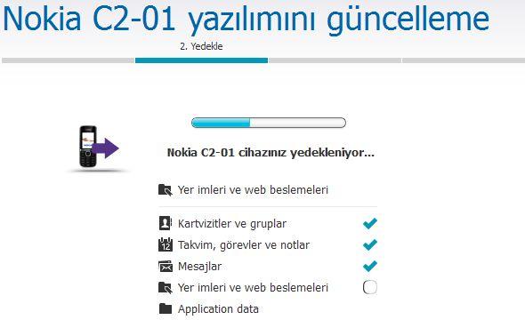 Nokia C2-01 Yazılım Güncelleme 5