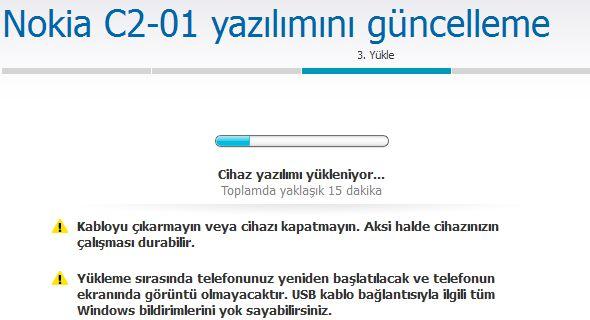 Nokia C2-01 Yazılım Güncelleme 6