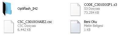 c3010s yazılım yükleme dosyalar