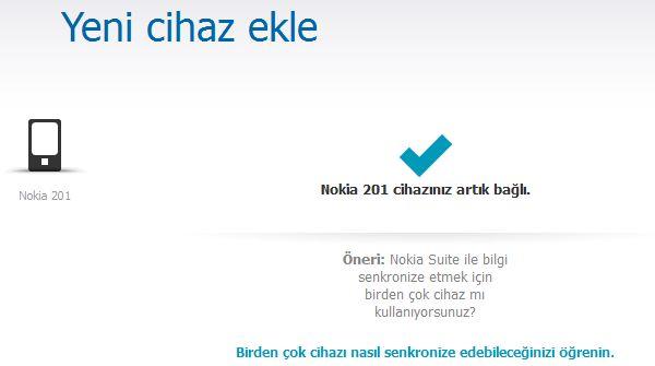 Nokia 201 Yazılım Güncelleme