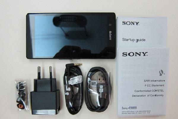 Sony Xperia Z kutu içeriği