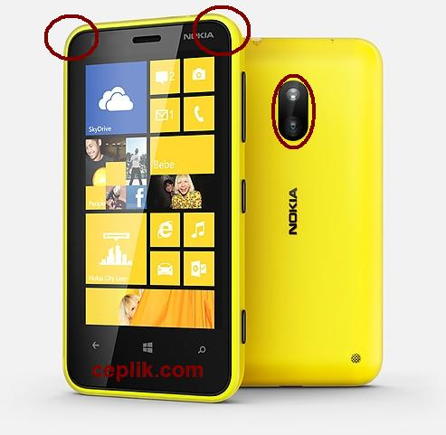 nokia-lumia-620-arka kapağı nasıl açılır