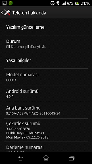 xperia z android 4.2.2