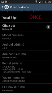 Galaxy s4 yazılım güncelleme 1