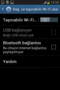 galaxy fame s6810p modem olarak kullanma