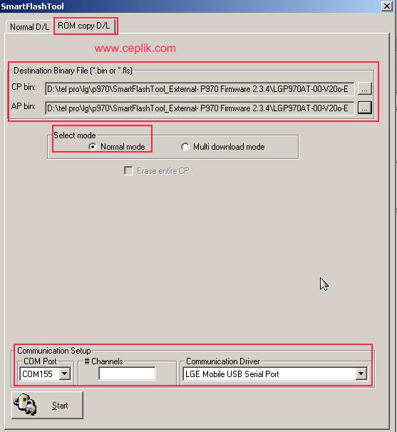 LG P970 Optimus Black format atma- yazılım yükleme