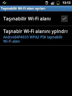 galaxy y modem olarak kullanma wifi