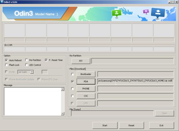 i747 yazılım yükleme
