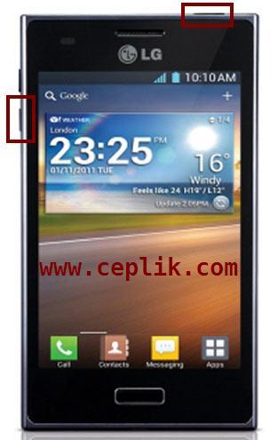 lg optimus L5 ekran görüntüsü alma