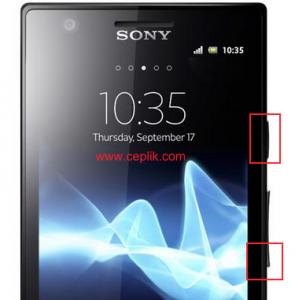 xperia p lt22i ekran görüntüsü alma