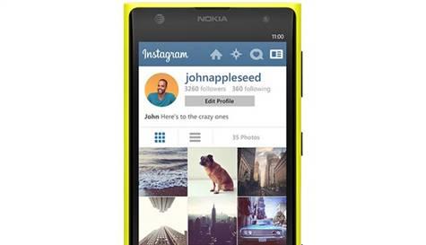 instagram windowsphone nokia