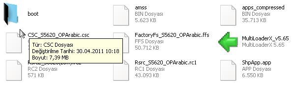 s5620 arapça yazılım dosyaları