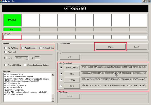 s5830i arapça yazılım yükleme