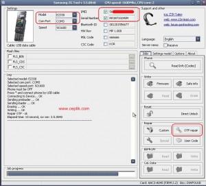 samsung e2330b z3x box imei repair
