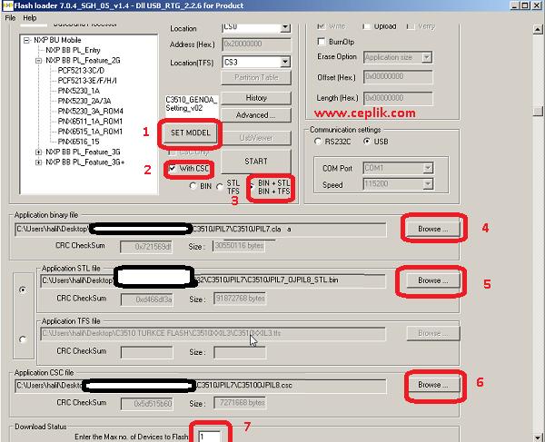 samsung c3510 genoa arapça yazılım yükleme