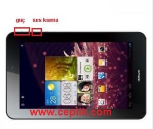 huawei mediapad 7 youth s7-701u tablet ekran görüntüsü yakalama