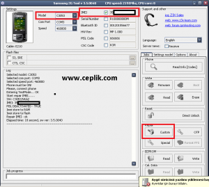 SAMSUNG C3053 z3x box imei repair