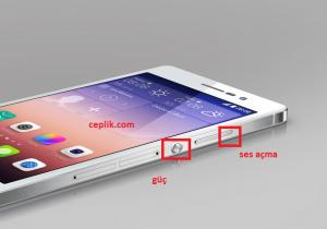 Huawei Ascend P7 Format Atmak