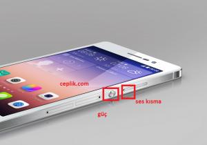 Huawei Ascend P7 ekran görüntüsü alma