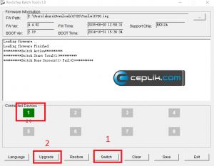 concord flyfix 7 c720 yazılım yükleme