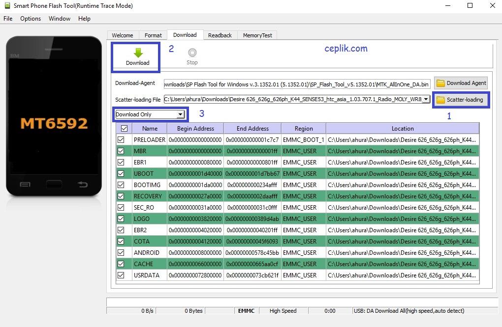 HTC Desire 626 Yazılım Yükleme – Ceplik Com
