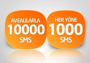 Avea 1.000 + 10.000 SMS paketi