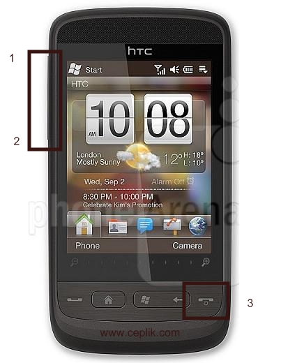 HTC-Touch2-format atma