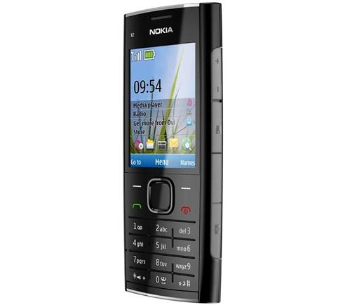NOKIA-X2-00-BLACK-CHROME-CEP-TELEFONU
